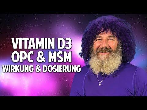 Robert Franz über Vitamin D3, OPC, K2 & MSM -  Wirkung und Dosierung