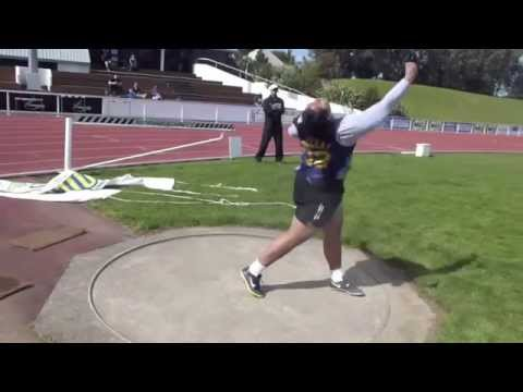 DISCUS HAKEAI Siositina 57,91m NZL junior record Auckland 28-09-2013