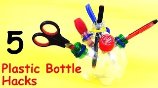 5 DIY Creative IDEAS to Reuse Plastic Bottles