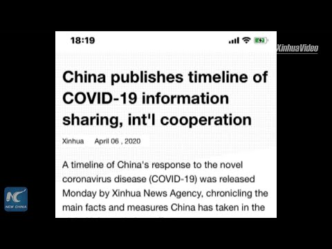 Xinhua Releases Timeline Of China's Response To COVID-19