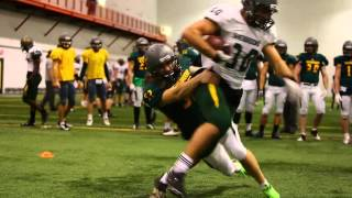 Practices of CIS Sherbrooke University football team.
