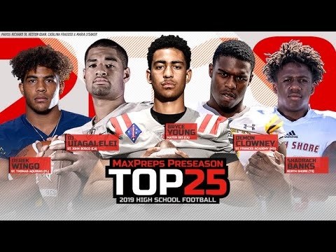 Preseason Top 25 High School Football Rankings