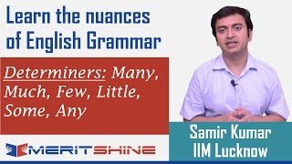 English Grammar 13 - Determiners: Many, Much, Few, Little, S