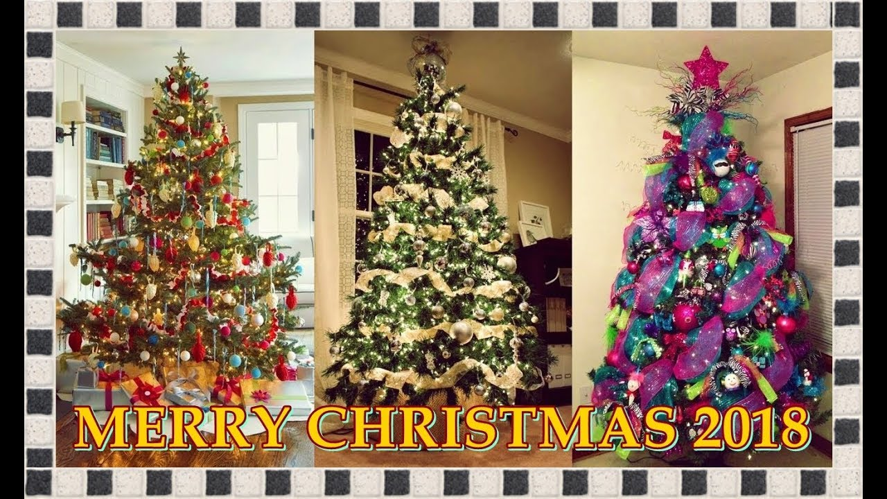 Merry christmas 2018 tendencias para decorar tu rbol de navidad happy new year youtube - Arboles navidad modernos ...