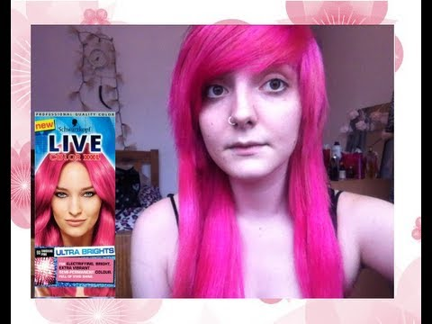 Dying My Hair Xxl Shocking Pink Youtube