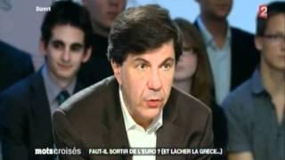 Marine le Pen invitée de Mots croisés : faut-il sortir de l'Euro ?