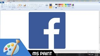 How to Draw Facebook logo in MS Paint from Scratch!
