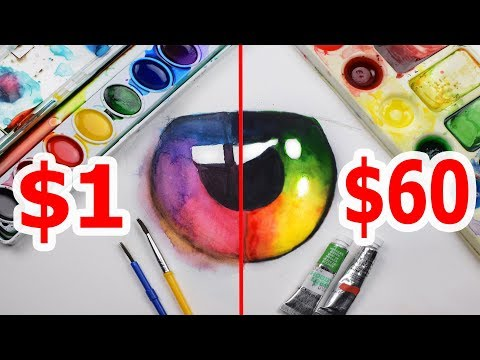 $60 LUXURY WATERCOLOR VS $1 CRAYOLA WATERCOLOR: Which is worth the money?