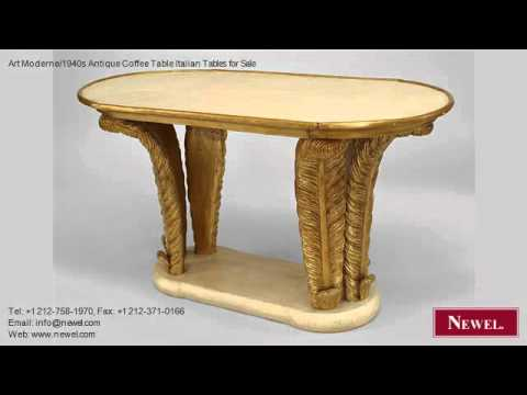Art Moderne/1940s Antique Coffee Table Italian Tables for