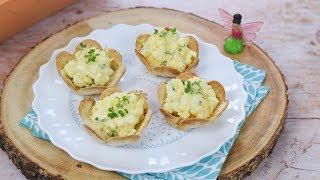 Egg & Cress Tortilla Cups Recipe with Fairy Kitchen Garden (Ad)