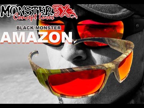 Óculos de pesca Monster 3x Black Monster Modelo Amazon vermelho ... cfa12be464