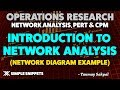 Network Analysis in Operations Research (Project Management) with Network Diagram Example