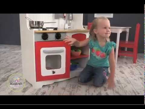 Kidkraft rode country keuken youtube