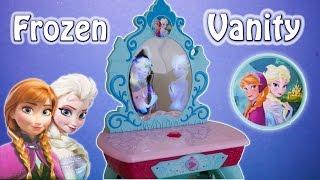 FROZEN  Elsa & Anna Crystal Kingdom Vanity Toys Video