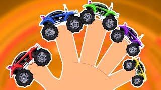 Monster Truck Finger Family | Kindergarten Nursery Rhymes For Babies