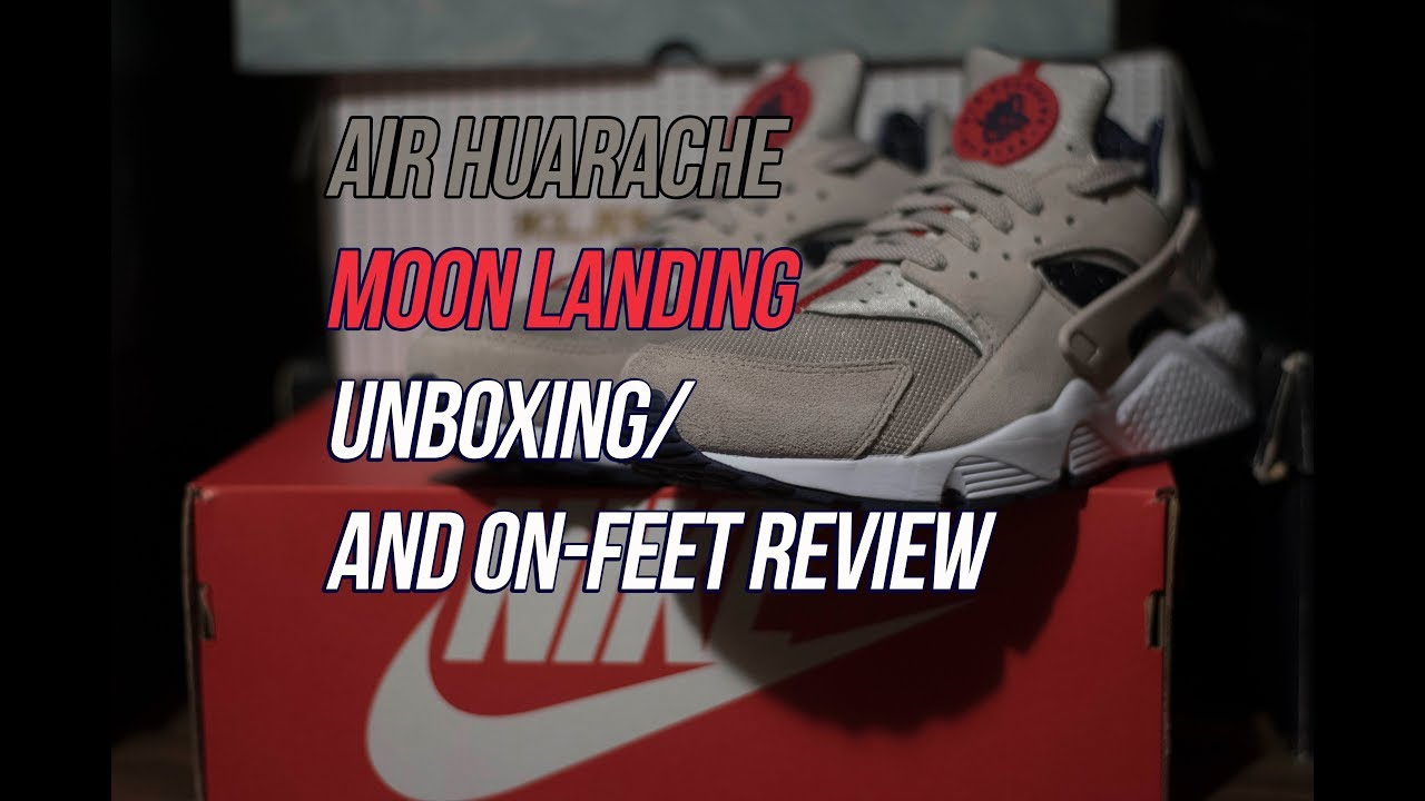 dfc1fc84b7f2 Air Huarache Moon Landing  Sneaker Unboxing and Review - YouTube