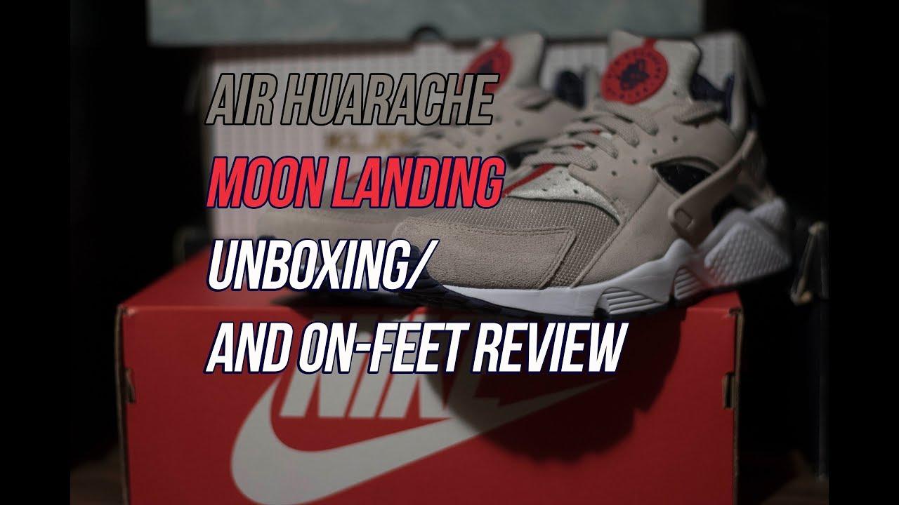 f62e3da535f7 Air Huarache Moon Landing  Sneaker Unboxing and Review - YouTube