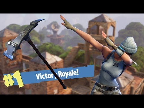 Venci com a picareta - Fortnite Battle Royale