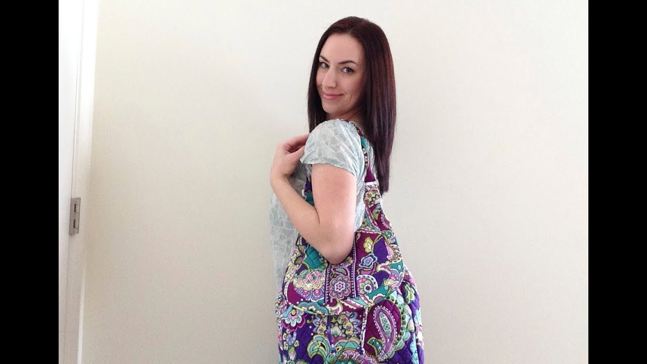 e86a49a238a9 On The Body  Vera Bradley Backpack Tote in Heather - YouTube