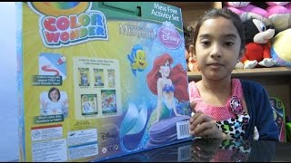 Unboxing New Crayola Color Wonder Disney Princess, The Little Mermaid, Coloring book for kids