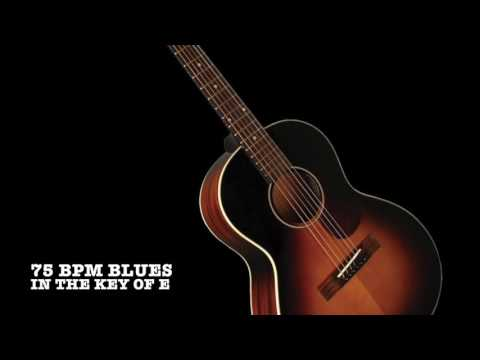 Slow Acoustic 12 bar Blues backing track in E