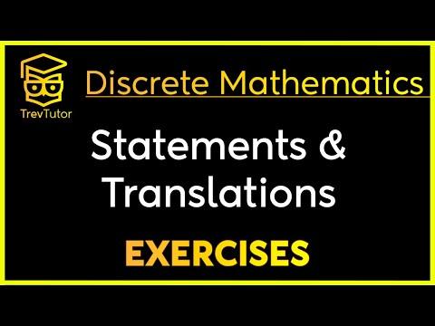 [Discrete Math 1] Statement Identification and Translation Examples