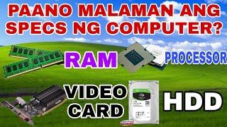 Paano Malaman Ang Specs Ng Computer