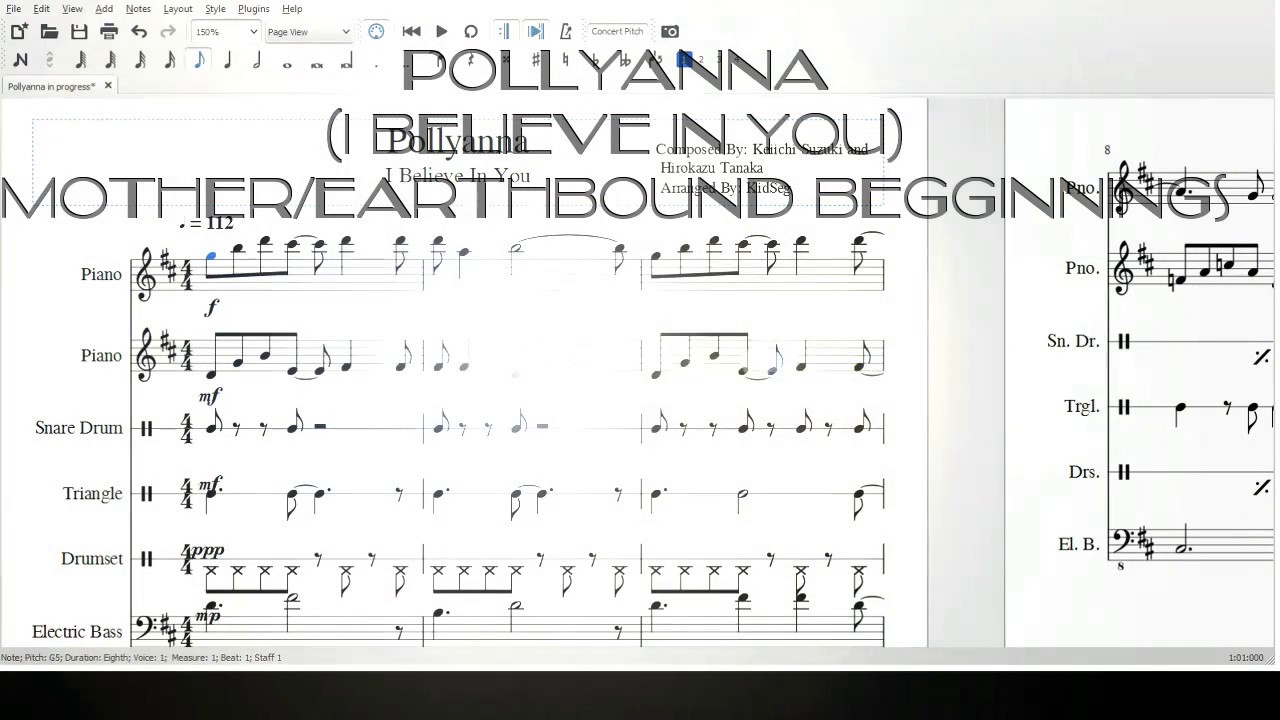 Pollyanna piano sheet music