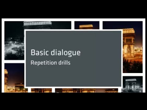 Conversational Spanish 16: Repetition drills for basic dialogue.