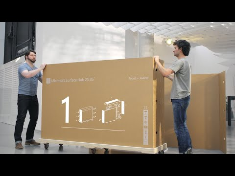 """Microsoft Surface Hub 2S 85""""   Unboxing and Set Up"""