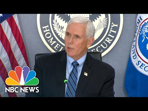 Vice President Mike Pence Ensures 'Safe Inauguration' After Capitol Riot | NBC News NOW