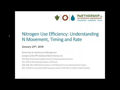 Nitrogen Use Efficiency  Understanding N Movement, Timing and Rate