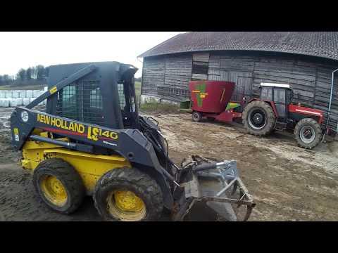 Vlog#24 Obsługa Bydła u Roberta :) z Mirusiem  JCB/NH/ZTS 12245
