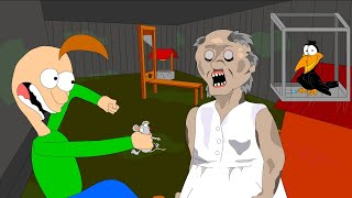 La ABUELA EL HORROR de la ANIMACIÓN del JUEGO #4 Baldi VS Granny (Parodia)