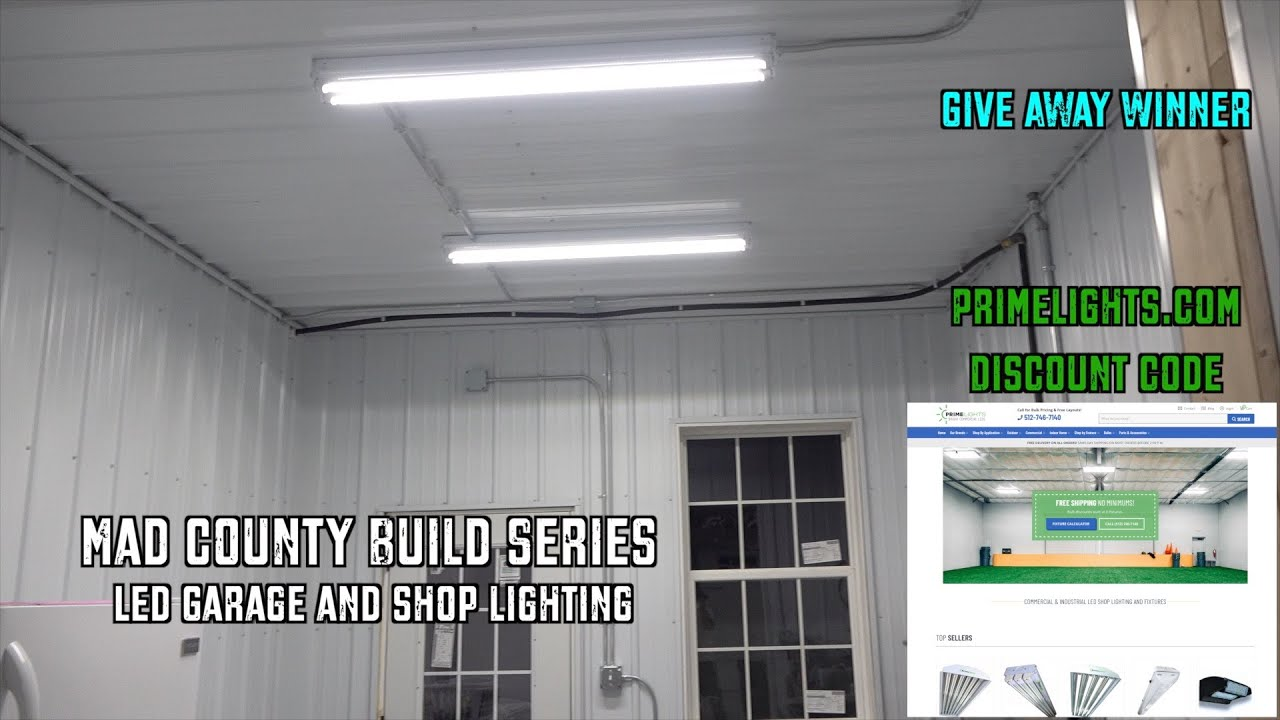 Prime Lights LED Garage Lighting + Giveaway Winner