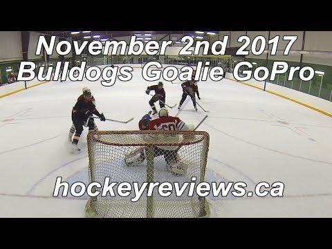 November 2nd 2017 Bulldogs Hockey Goalie GoPro, Team's 1st Point!
