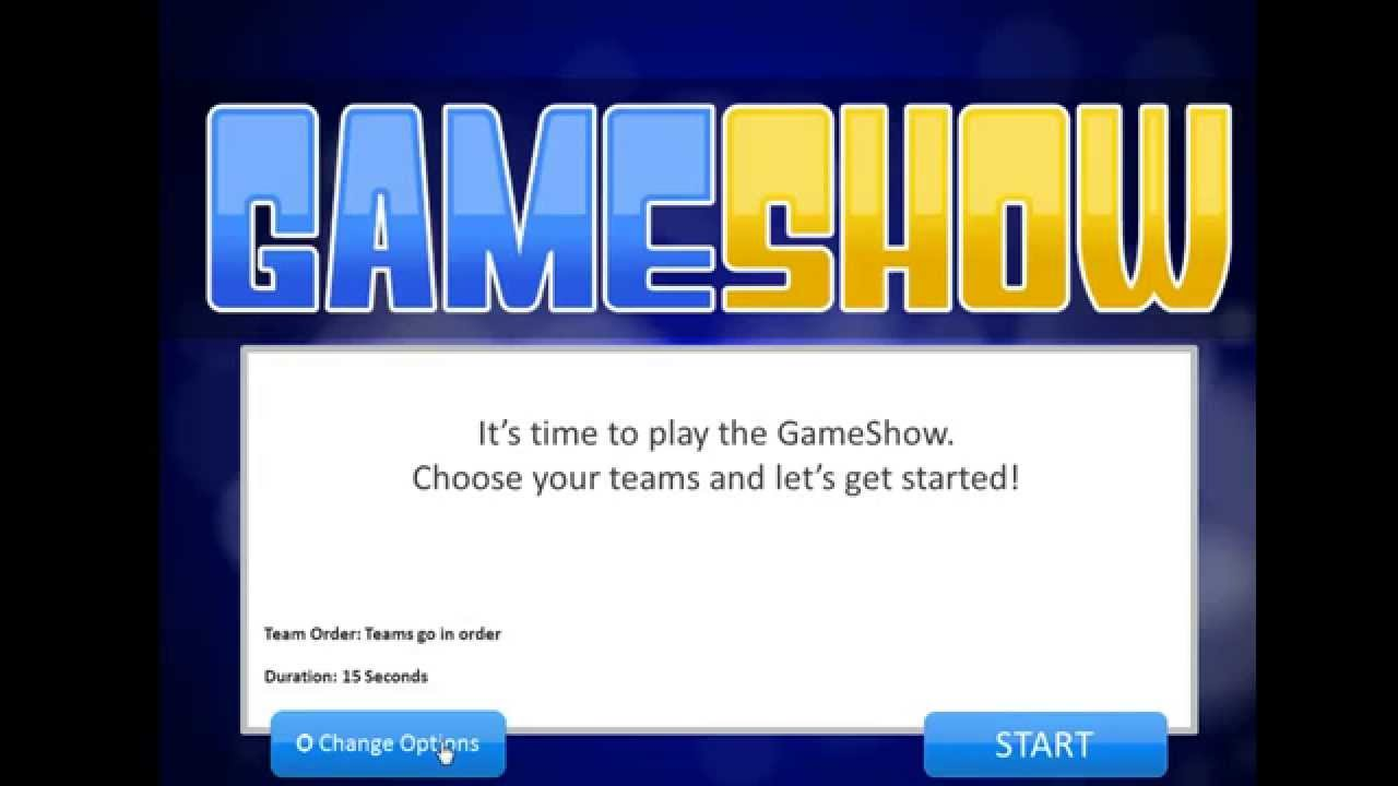 powerpoint game show template