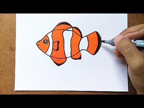 Como Desenhar Um Peixe Palhaco Youtube