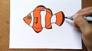 Como Desenhar um Peixe - Palhaço