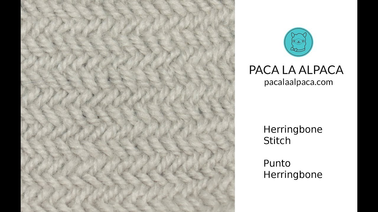 Herringbone Stitch Knitting Pattern - YouTube