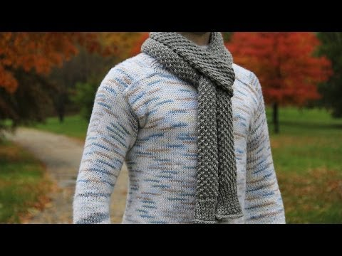 How To Knit Mens Scarf