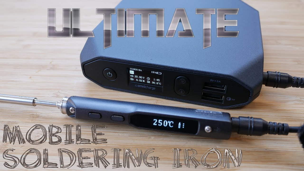 Ultimate Mobile Soldering Setup?! (Omnicharge + TS100)