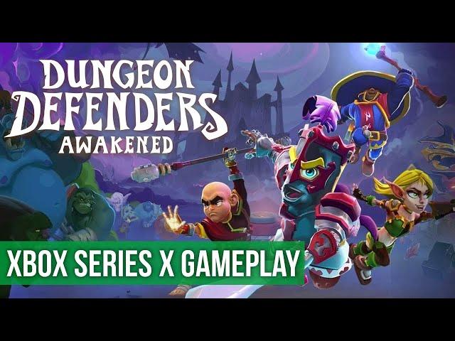 Dungeon Defenders: Awakened - Gameplay (Xbox Series X) HD 60FPS