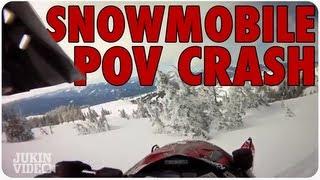 Snowmobile FLIES Through Frosty Trees | POV Smash