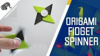 Origami - How To Make An Origami Fidget Spinner