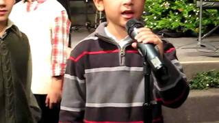 """Ethan's solo, singing the """"African Noel"""" in ROR's Children's Christ..."""