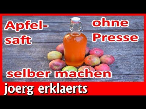 Apfelsaft pressen / Apfelmost selber machen herstellen ohne Presse Tutorial Nr.206