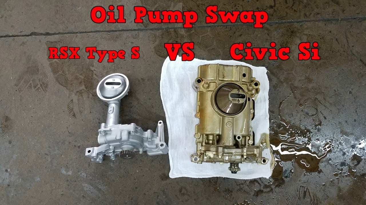 K20A RSX Type S Oil Pump Swap in 8th Gen Civic Si K20Z3