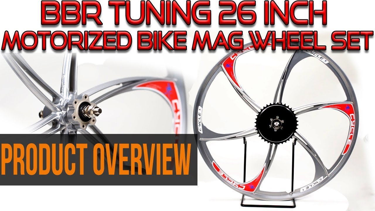 "66cc//80cc CDHPOWER 26/"" MAG WHEELS aluminum alloy wheel-Gas Motorcycle Bicycle"