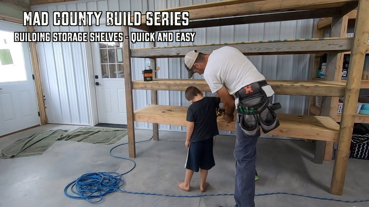 Quick + Easy Garage Shelving for Organization
